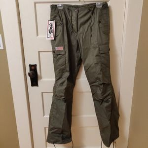 UFO Jeans girly hipster pants Olive size medium